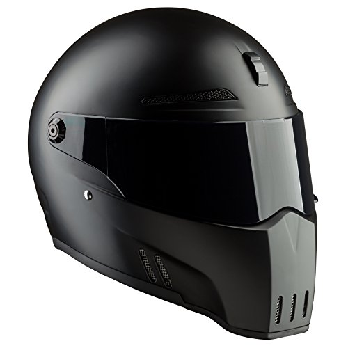 Bandit Helmets Alien II ECE 22-05,geprüft,Kopfbelüftung,Motorradhelm, Sports-Farbe:Dull Black, Größe:M(57/58)