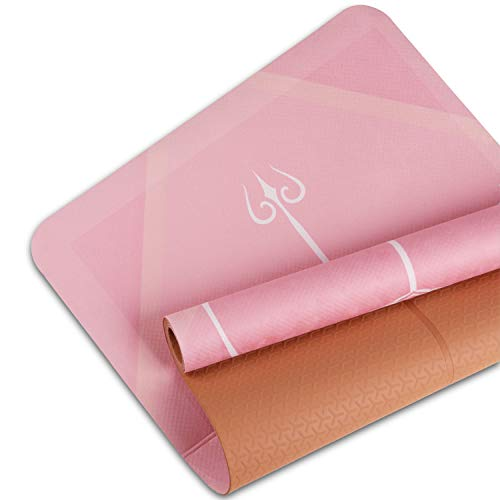 """WWWW Suede TPE Yoga Mat with Bag 72""""x 24"""" x 2mm Exercise & Workout Mat for Outdoor Yoga Pilates Fitness"""