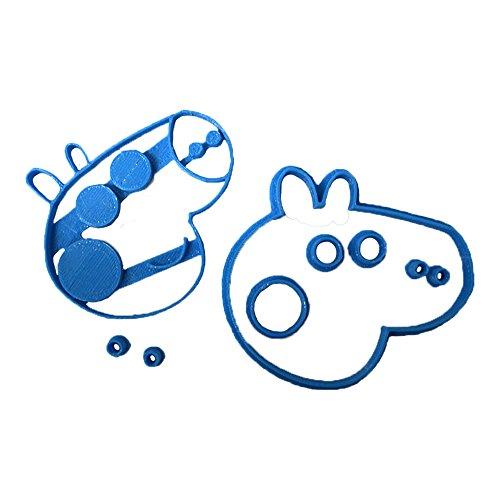 Cuticuter Peppa Pig Taglierina per Fondant, Blu, 8 x 7 x 1,5 cm