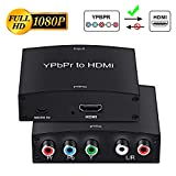 Component to HDMI Adapter, YPbPr to HDMI Coverter + R/L, NEWCARE Component 5RCA RGB to HDMI Converter Adapter, Supports 1080P Video Audio Converter Adapter for DVD PSP Xbox 360 to HDTV Monitor