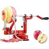 Bugucat Apfelschäler, Profi Apfelschneider Apfelschälmaschine Spiralschneider Apfelentkerner Schälmaschine Kartoffel Obstschneider 3 in 1 Funktion in Premium Qualität