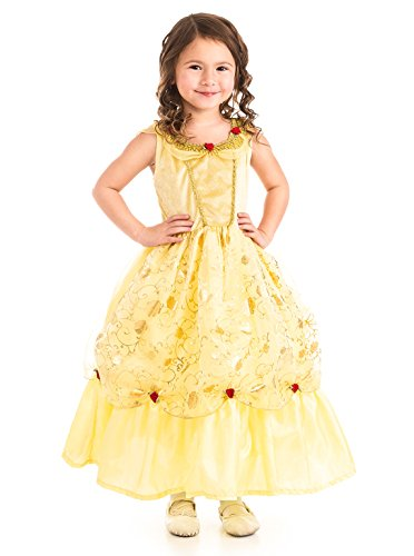 Little Adventures Traditional Yellow Beauty Girls Princess Costume - X-Large (7-9 Yrs)