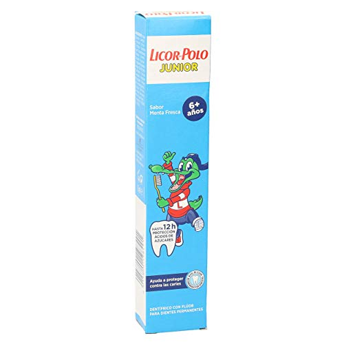 LICOR DEL POLO Junior pasta dentífrica menta +6 años tubo 75 ml