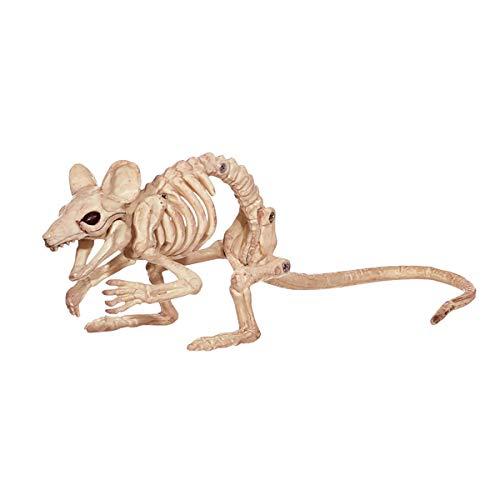 LKXHarleya Halloween Animal Esqueleto Horror Animal Hueso Accesorios Halloween Perro Gato Rata Ram Ram Serpiente Gecko Esqueleto DecoracióN De Halloween, Rata 2