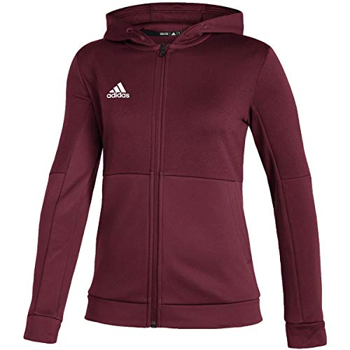 adidas Team Issue Full Zip Jacket - Women's Casual LT Team Collegiate Burgundy/White