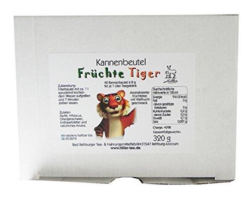 Hiller Kannenbeutel Früchtetee Früchte Tiger 40 x 1 Liter