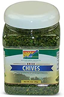 Mother Earth Products Dried Chives, Quart Jar, 2 oz