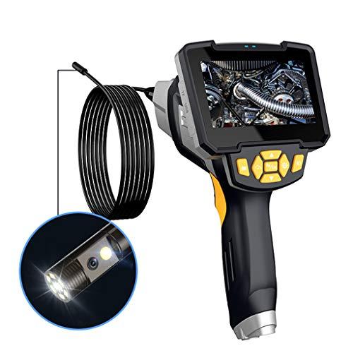 LIQIANG 1080P Endoskop Mit Zwei Linsen, DEPSTECH-Endoskop Mit 4,3-Zoll-IPS-Bildschirm, HD-Inspektionskamera Mit 6 Einstellbaren LED-Leuchten, 1700-mAh-Akku, Serpentinenkabelkamera