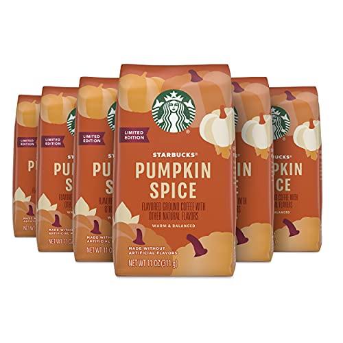 Starbucks Flavored Ground Coffee — Light Roast Coffee — Pumpkin Spice — Fall Limited Edition — 6 bags (11 oz)