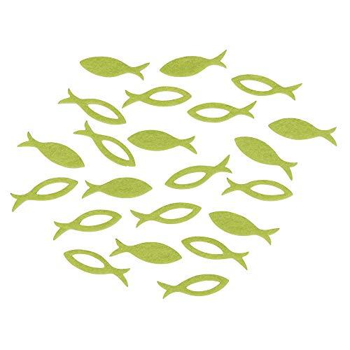 Rayher 53567414 Filz Streuteile Fisch, 3,5x1x0,2cm, 2 Sorten , SB-Btl