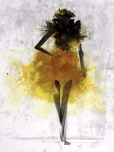 JHGJHK Pintura de Tinta nórdica Pintura al óleo Abstracta decoración de la Sala de Estar Vestido Colorido Imagen artística impresión Dormitorio de niña (Imagen 2)
