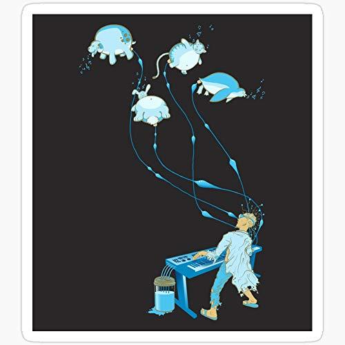 WillettaStore Digital Illustration Aufkleber, Motiv Piranisten, 3 Stück