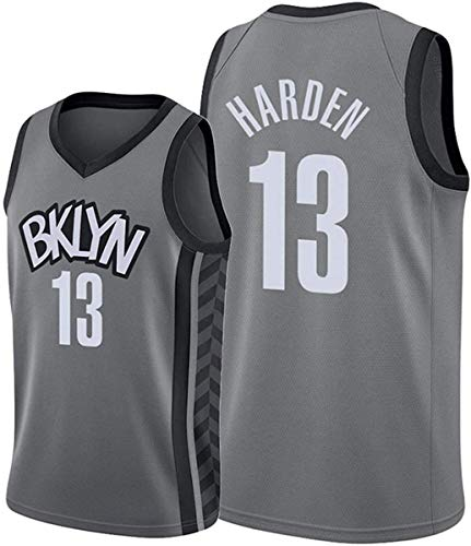 ATI-HSKJ Maglie da Basket NBA,Brooklyn Nets James Harden # 13 Jersey Cool Tessuto Traspirante Swingman Canotta Senza Maniche Top Abbigliamento,M(170~175CM/65~75KG)