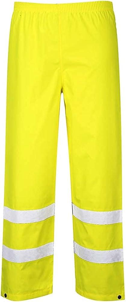 Portwest Hi-Vis Traffic Trouser Viz Work Cargo Work Pants Reflec