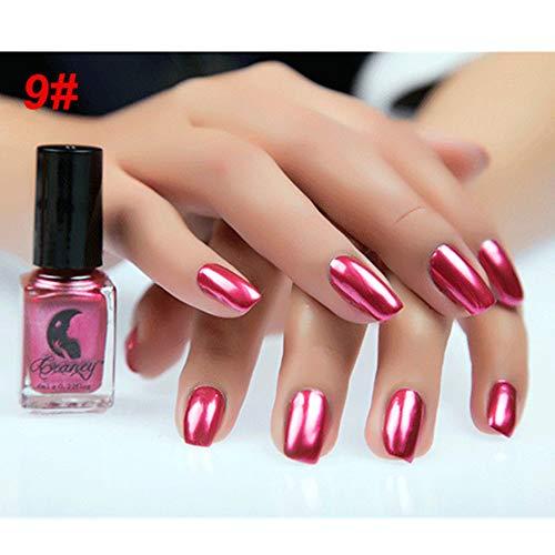 Gel-Nagellack Kekailu, 6 ml, Metallic-Chrom, Spiegeleffekt, Maniküre-Werkzeug, Nagellack, Aufkleber – #9 Mirror Red