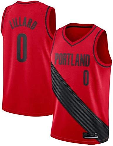 llp Jersey de Baloncesto para Hombre NBA Portland Trail Blazers 0# Damian Lillard Tela Transpirable Clásico Retro Moda Sin Mangas Vest Camiseta Unisex (Color : D, Size : X-Large)