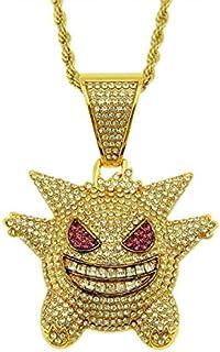 Urbanice - Collar Gengar Hip Hop Diamantes con Cadena (Trap) 60cm