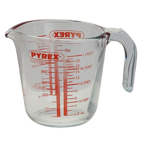 Soluzioni 0.5l Pyrex vetro trasparente caraffa graduata da cucina