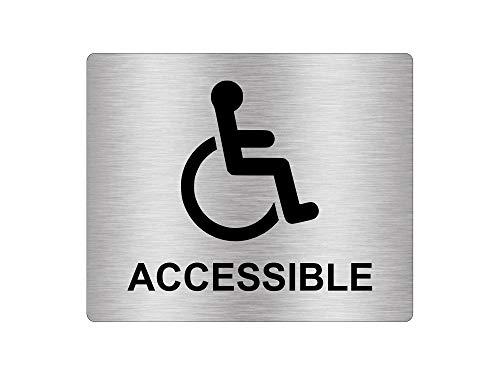 Pegatina adhesiva plateada para silla de ruedas accesible,...