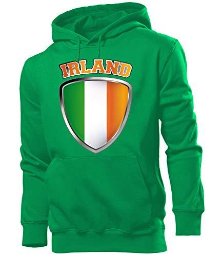 Golebros Irland Ireland Fussball Fanhoodie Fan Männer Herren Hoodie Pulli Kapuzen Pullover Fanartikel Trikot Look Geschenke Flagge zubehör Fahne fußball Fanartikel Oberteil Flag Artikel Outfit