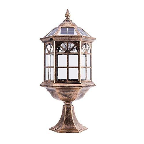 NA XMMDD Luz Solar del jardín, al Aire Libre Patio Pilar Puerta Simple lámpara al Aire Libre Impermeable llevó la Columna Faro