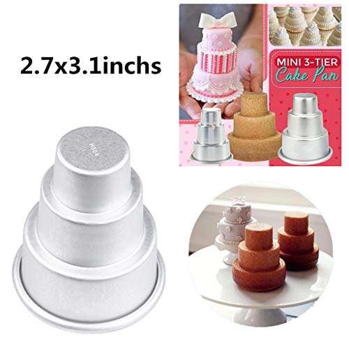 mini 3 tier cake pan - 2