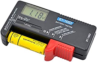 ALBEFY Digital Battery Tester Battery Capacity Checker with LCD Display C//D//N//Z//9V//AA//AAA//1.5V Portable Battery Power Measuring Instrument