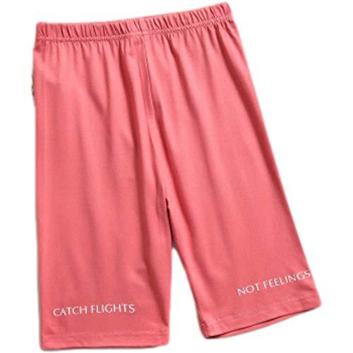 Pantalones Cortos para Mujer Que Adelgazan Absorbente de Sudor Transpirable Yoga Fitness Impresión Ciclismo Mallas Color Puro S