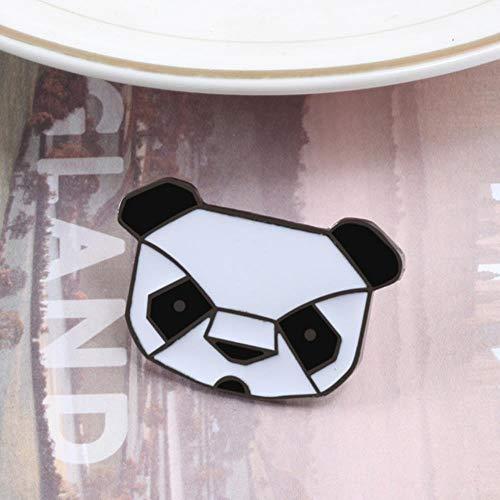 Alfileres de esmalte de animales de dibujos animados Cute Panda Penguin Broches Insignias para mujeres Hombres Ropa Mochila Pin de solapa Bolsa de joyería Accesorios-Panda Head, China
