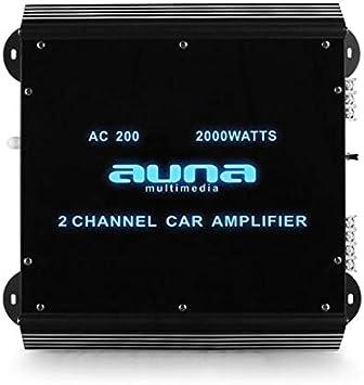 Auna W2 Ac600 6 Kanal Auto Endstufe Amplifier Car Hifi Verstärker 540w Rms Bis Zu 6000