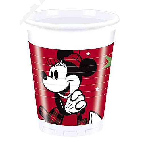 Disney Mickey Mouse 8 x Kerstfeest bekers delen de magie