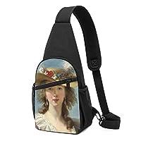 ワンショルダーバッグ メンズ 斜めがけ胸バッグ ボディー肩掛けバッグ 小型手提げバッグ 出張 通勤 通学用 優雅な貴婦人