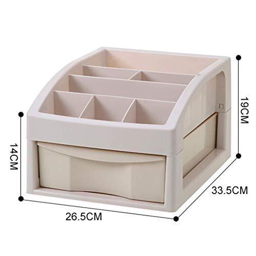 ZTMN Boîte de Rangement cosmétique en Plastique Rouge à lèvres de Bureau Bijoux Produits de Soins de la Peau boîte de Rangement de Stockage 33,5 * 26,5 * 19 cm