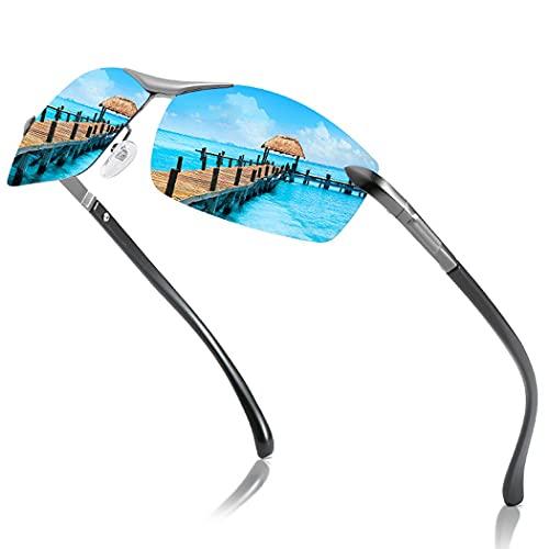 Gafas de sol de conducción polarizadas Metal Moda Pesca Gafas de sol Gafas de playa