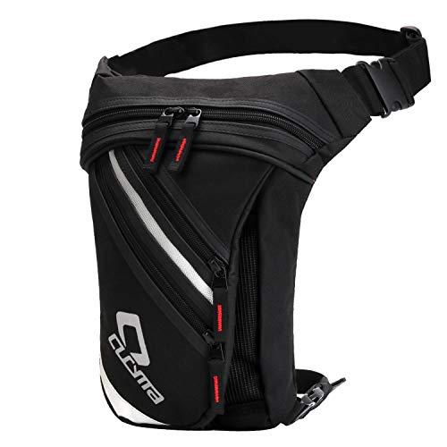Bolso de La Pierna, FansportBolso de la Cadera Bolsa de Lona de la Cintura Muslo Pack para IR de Excursión Escalada Motocicleta Ciclismo (Schwarz Gestreift)