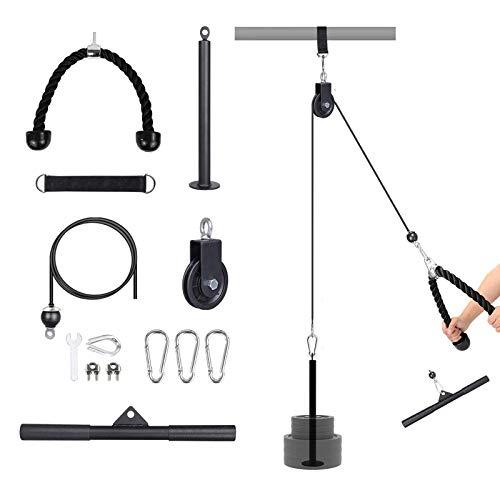 Yovell Fitness LAT and Lift Puleggia Sistema DIY Pull Down Machine Cable Attached Home Gym Allenamento Attrezzature per esercizi di allenamento per tricipiti, bicipiti, schiena, avambraccio, spalle