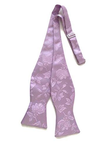 Holiday Bow Ties Mens Self-tie Bow Tie Rose Jacquard Handmade, Mens, Lavender (Mens, Lavender)