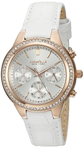 Caravelle New York Women's 44L214 Analog Display Quartz White Watch