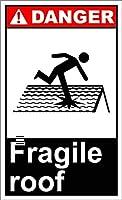 ノベルティスクエアアルミメタルロードサイン壊れやすい屋根の危険サイン、ベストインメタルサインレトロな家の装飾バーパブホームのためのヴィンテージブリキサイン