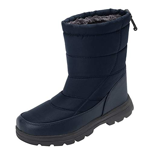 Men and Women's Waterproof Snow Boot Drawstring Cold Weather Boot, T.grey-44