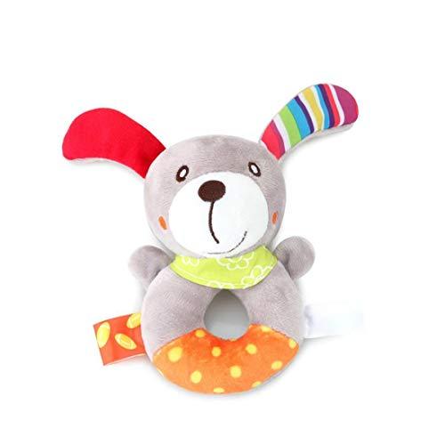 Perro de Perrito de Anillo sonajero bebé Waggles Felpa del Animal Relleno Suave Anillo sonajero, Equipo al Aire Libre
