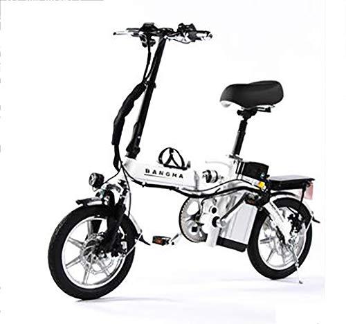 TX Mini Bicicletta elettrica Pieghevole Piccolo motorino Lega di Alluminio con contatore Intelligente, Telefono Ricaricabile, 80-110 km, 4 Assorbimento degli Urti