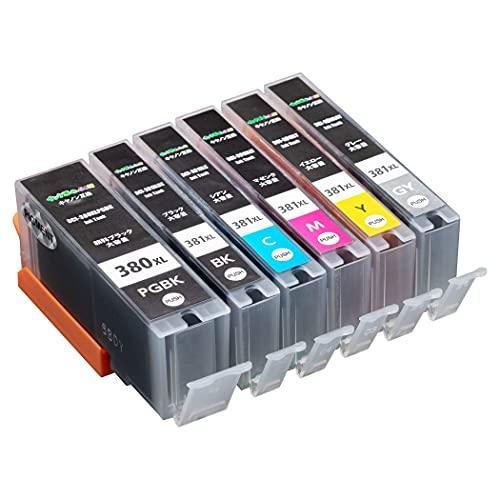 【インク革命製】 キャノン用 380 381 インク BCI-381XL+BCI-380XL (6色大容量マルチパック) Canon対応 互換 インクカートリッジ 対応機種 : PIXUS TS8130 / TS8230 / TS8330 / TS8430