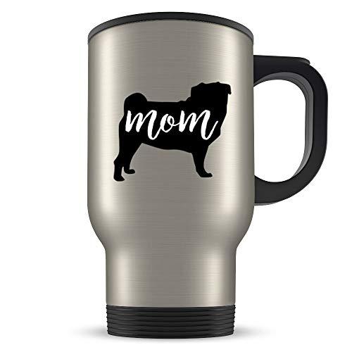 Taza de viaje, regalo de carlino para mujeres, regalo de carlino, taza de carlino, taza de carlino, amante de carlino, regalo de perro carlino, regalo de perro carlino negro