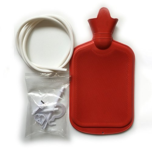 Home Syringe Enema Bag Colon Anal Douche Cleansing Kit Rubber Personal Health Cleanse Hot Water Bottle 2000ML(2 Quart)