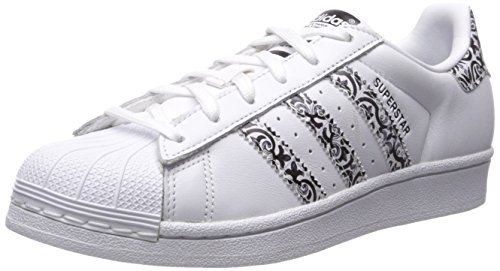 adidas Originals Women's Superstar Sneaker, White/Core Black/White, 7.5