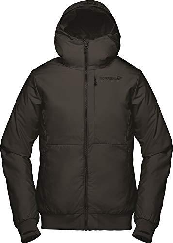Norrona W Roldal Insulated Hood Jacket Schwarz, Damen Primaloft Isolationsjacke, Größe L - Farbe Caviar