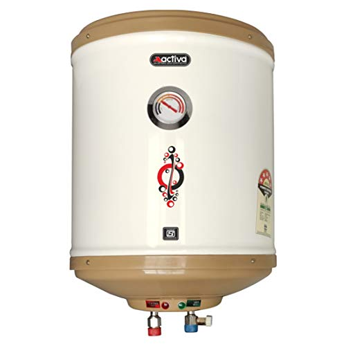 Activa 25 L Storage 2 KVA 5 Star Geyser with Temperature Meter, ABS Top Bottom, HD ISI Element (Ivory)