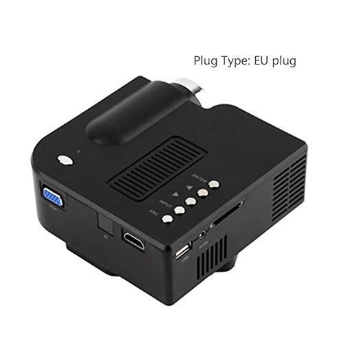 UC28 + Mini proyector portátil 1080P HD Home Cinema Theater Interfaz HDMI Mejorada Dispositivo de Entretenimiento en el hogar Reproductor Multimedia - Negro
