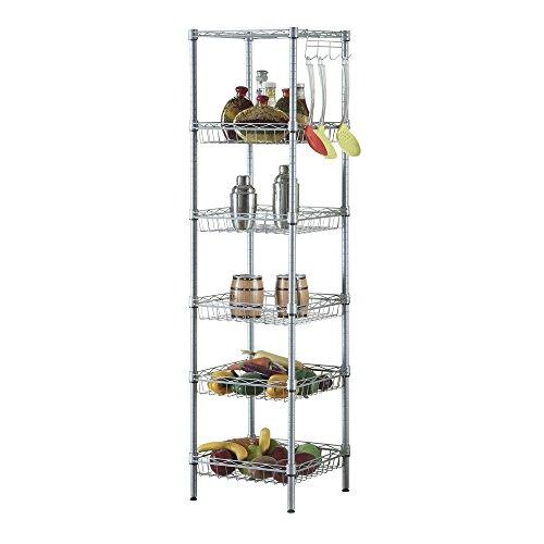 Organized Living freedomRail Shelf-Loc Clear Shelf Locators for Wood Shelves, Set of 12